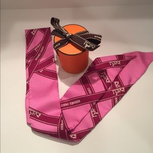 Authentic Hermes Bolduc Silk Twilly Scarf